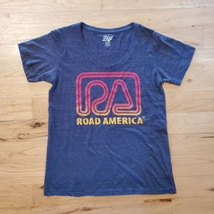 Road America navy blue women's tshirt